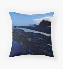 Blue inlet Throw Pillow