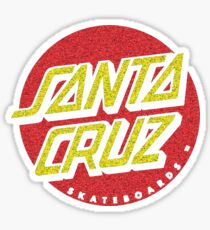Santa Cruz 'worn out' logo Sticker