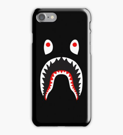 bape shark red iPhone Case/Skin