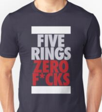 Five Rings Zero Fcks (Silver/Red) T-Shirt