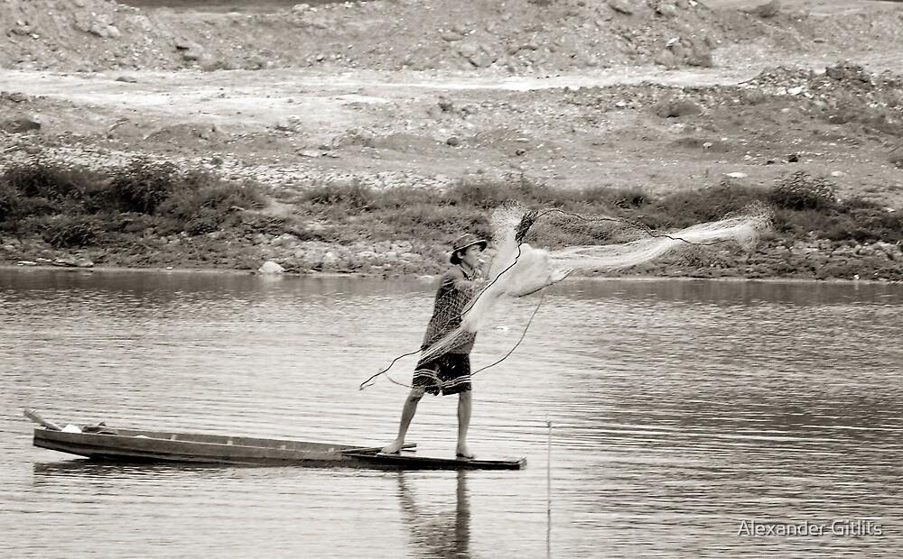 Fisherman by Alexander Gitlits