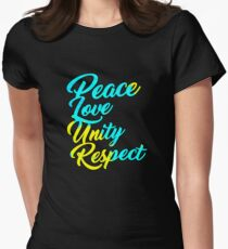 PLUR - Peace Love Unity Respect Womens Fitted T-Shirt