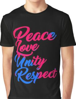 PLUR - Peace Love Unity Respect Graphic T-Shirt