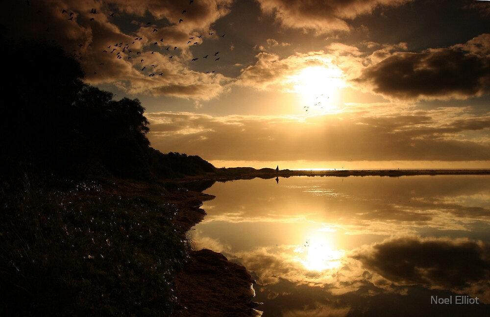 Lake Wollumboola Sunrise #6 by Noel Elliot