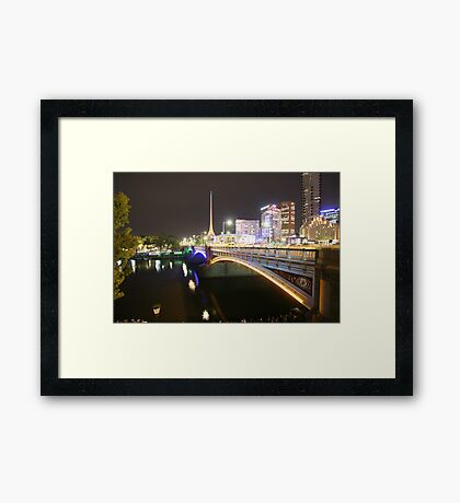Games in the city 1 Framed Print