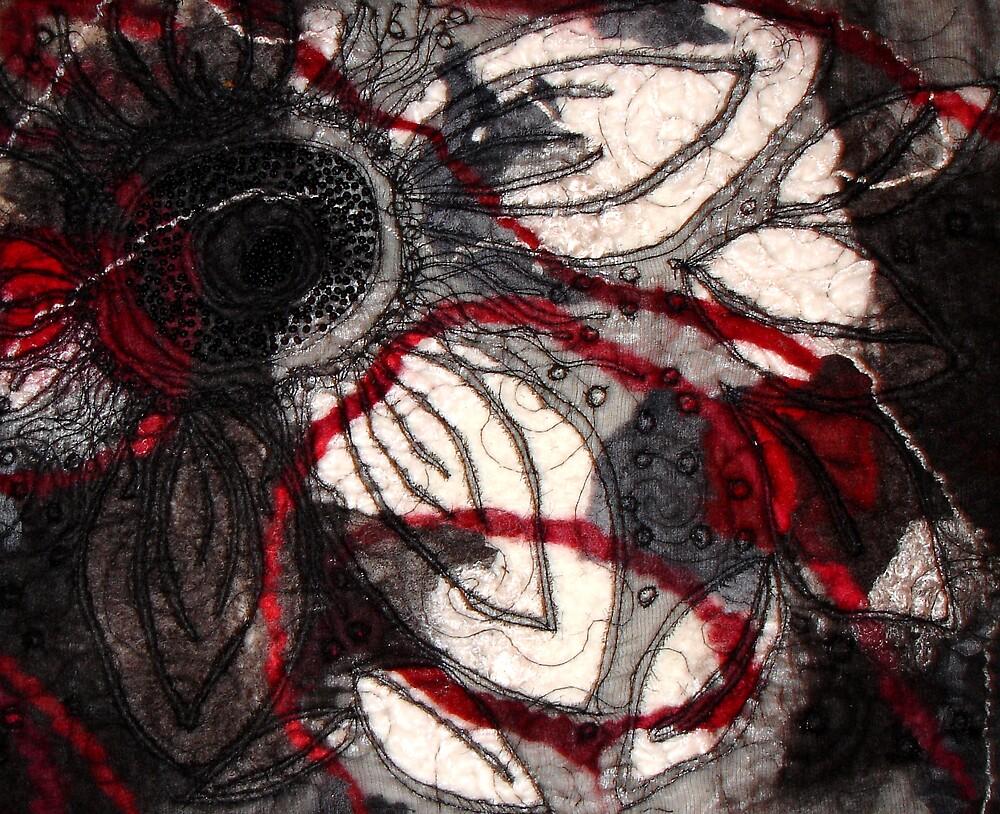 Duotone Felt Flower Red by fifelt