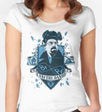 I am the Danger – Blue Women's Fitted Scoop T-Shirt
