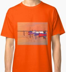 Magical reflection of a small dinghy dory boats Classic T-Shirt