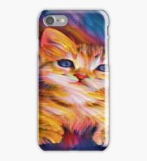 Colorful Tabby Cat iPhone Case/Skin