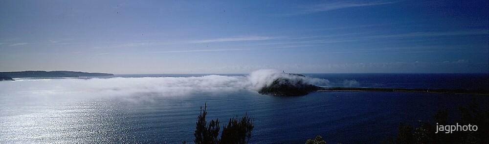 Steam fog Broken Bay by jagphoto