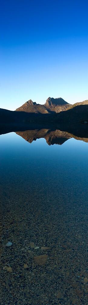 Vertical Cradle Mountain Morning Panorama by John Barratt