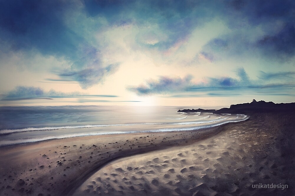 Beach - Digital Painting by unikatdesign