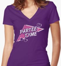 Official Dirty 30 - Partee Tyme Tee Women's Fitted V-Neck T-Shirt