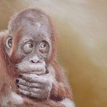 Lear (Baby orangutan) by wildatart