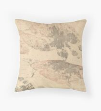 Stockholm 1870 Throw Pillow