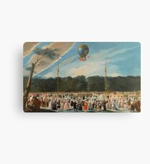 Carnicero Mancio, Antonio - Ascent Of A Montgolfier Balloon At Aranjuez Canvas Print