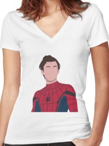 Tom holland, peter parker Women's Fitted V-Neck T-Shirt