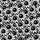 Funflower ! - Repeat Pattern B+W by beachxpizza