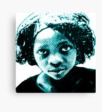 Black white red or green Canvas Print