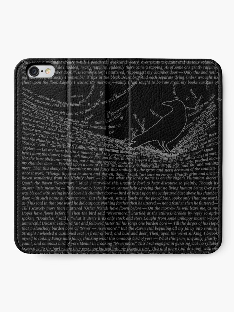 Alternate view of The Raven by Edgar Allan Poe iPhone Wallet