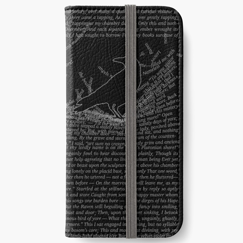 The Raven by Edgar Allan Poe iPhone Wallet