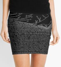 The Raven by Edgar Allan Poe Mini Skirt