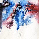 Red, blue and purple abstract by Simon Rudd