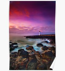 Port Fairy Lighthouse - Sunrise Poster