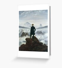 Caspar David Friedrich - The Wanderer Above The Sea Of Fog Greeting Card