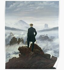 Caspar David Friedrich - The Wanderer Above The Sea Of Fog Poster