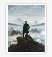 Caspar David Friedrich - The Wanderer Above The Sea Of Fog Sticker