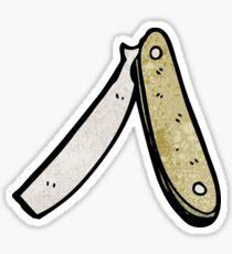 cartoon cut throat razor Sticker