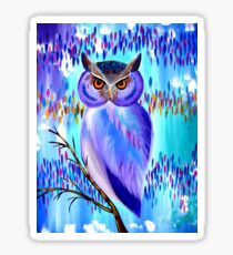 Owl Equinox Sticker