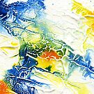 Yellow and blue abstract by Simon Rudd