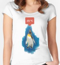 Ice cold penguin Women's Fitted Scoop T-Shirt