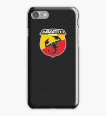 Abarth carbon fiber shell iPhone Case/Skin