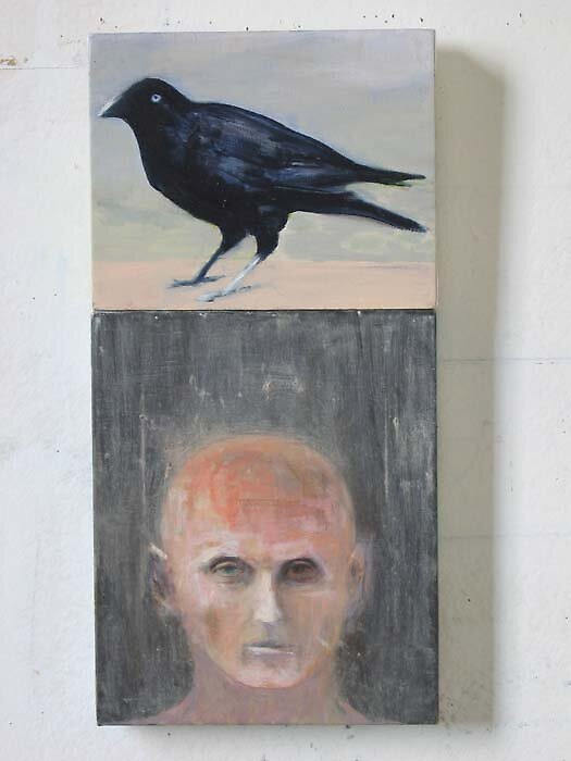 self portrait#3 with crow by davey