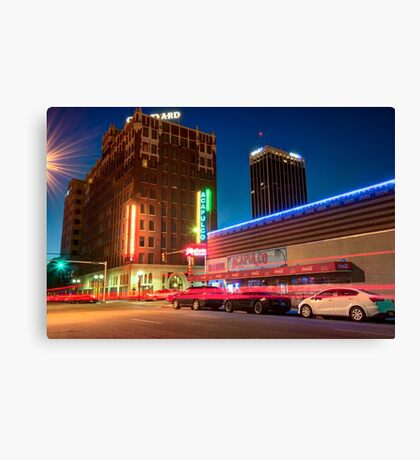 Driving Through Downtown Amarillo Texas  Canvas Print