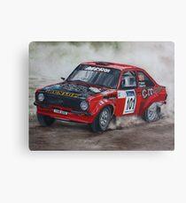 Colin McRae Mk 2 Escort Rally  Canvas Print