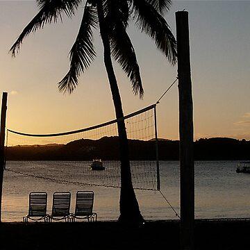 Beach volleyball by xavier