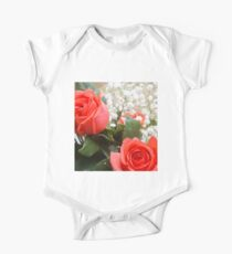 Soft red roses 3 One Piece - Short Sleeve