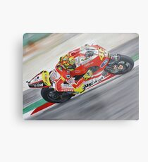 Valentino Rossi Ducati oil painting Metal Print