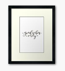 Good Vibes Only Quotes Framed Print