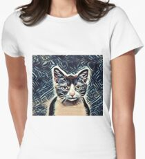 The Calico Cat Womens Fitted T-Shirt