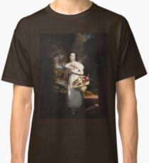 Charles Cromwell Ingham - Little Girl With Flowers Classic T-Shirt