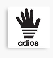 Adios a sporty logo parody Canvas Print