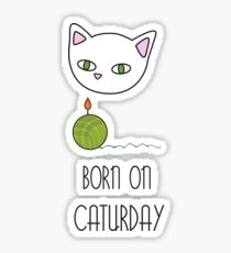 Born on Caturday Sticker