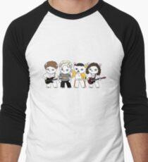 Meow rock band Men's Baseball ¾ T-Shirt