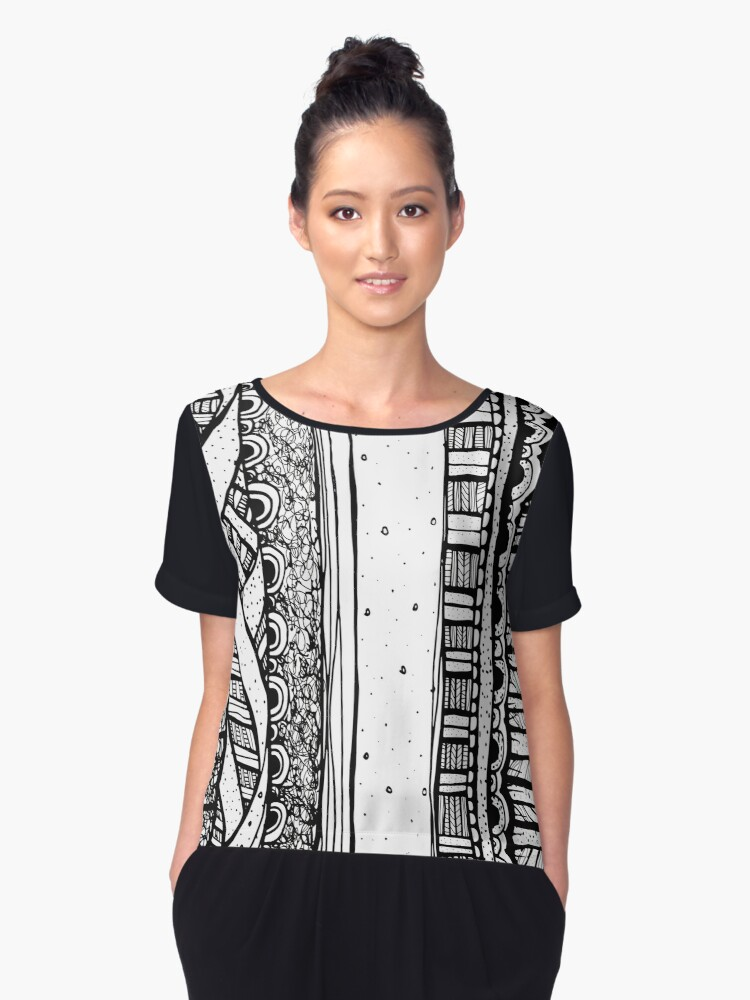 Cathartic Patterns Vol. 01 Women's Chiffon Top Front