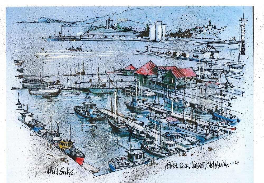 Victoria Docks, Hobart, Tasmania by Al Benge